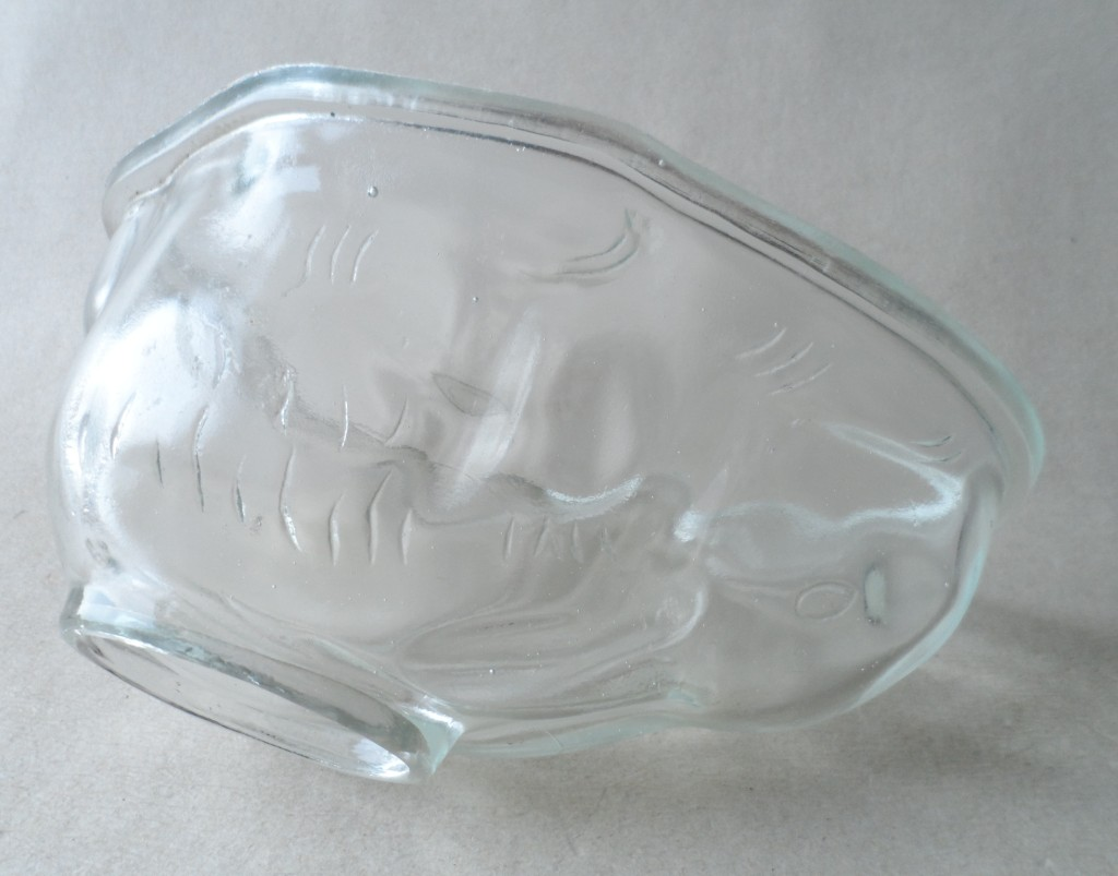 Vintage Mid Century Kitchen Large Clear Glass Traditional Rabbit Form Jelly Mould Jello Mold Bunny
